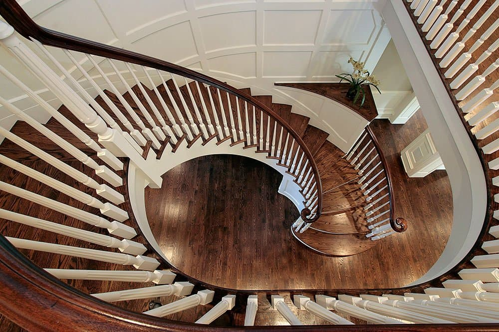 circle-wooden-stairs