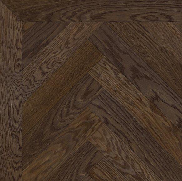 Herringbone oak parquet