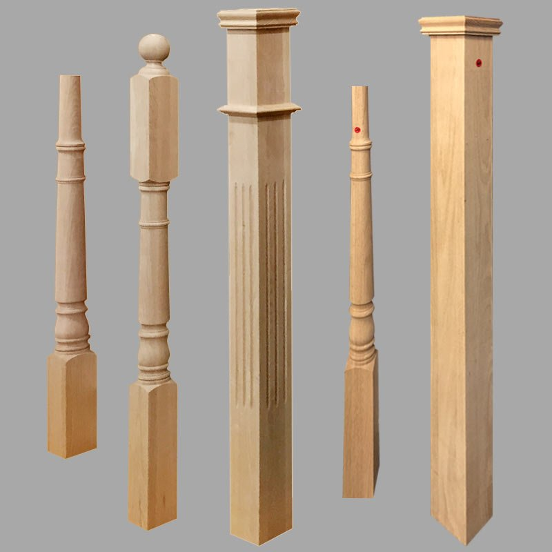 wooden newels